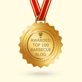 Medal award for placing in the top 100 barbecues Blogs by feedspot